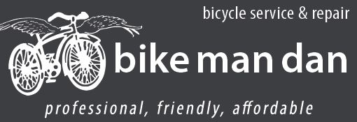 bike man dan. bicycle service and repair. professional, friendly, affordable.